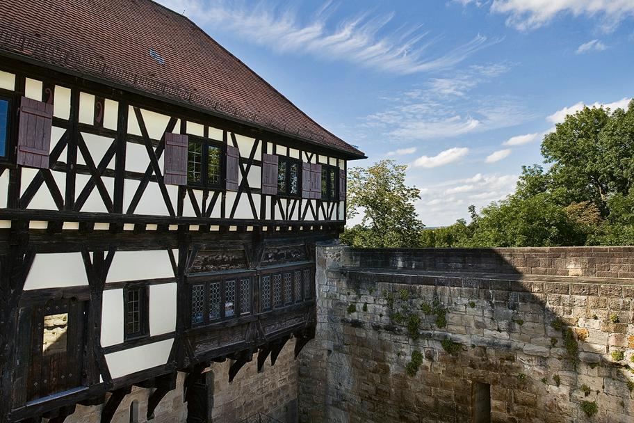Aussenansicht der Burg Wäscherschloss; Foto: Staatliche Schlösser und Gärten Baden-Württemberg, Ortsverwaltung Ludwigsburg