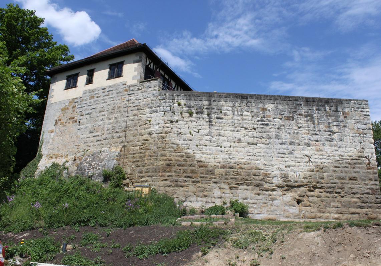 Aussenansicht der Burg Wäscherschloss; Foto: Amt Schwäbisch Gmünd
