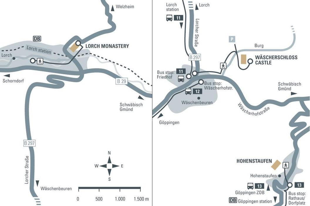 journey description: Wäscherschloss Castle, illustration: Staatliche Schlösser und Gärten Baden-Württemberg, JUNG:Kommunikation