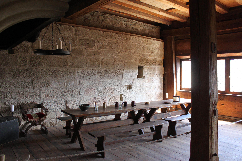 Burg Wäscherschloss, Ausstellungsraum innen