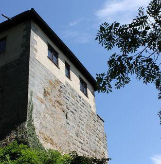Außenansicht der Burg Wäscherschloss; Foto: Amt Schwäbisch Gmünd