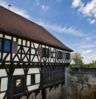 Luftaufnahme der Burg Wäscherschloss; Foto: Staatliche Schlösser und Gärten Baden-Württemberg, Ortsverwaltung Ludwigsburg